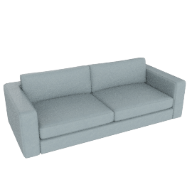 "Reid 86"" Sofa in leather, mist"