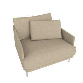 Camber Armchair Stainless Legs, Lama Tweed Oatmeal