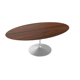 Saarinen Oval Dining Table 78'',Rosewood - Plt.Rosewood