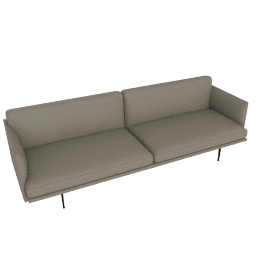 Outline Sofa, Shadow Leather