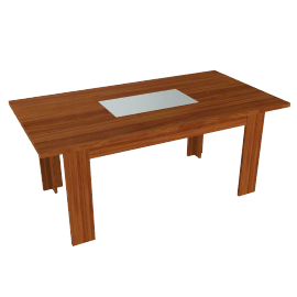 Strata Dining Table, Cherry