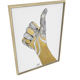 Sign Language VII by KelliEllis - 36''x48'', Gold