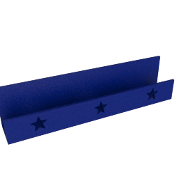 Jake Star Wall Shelf, Blue