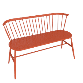 Originals Loveseat Colour Finish, Mandarin