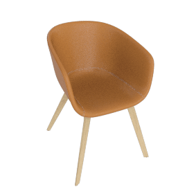 About A Chair 23 Armchair, Upholstered, CA 5011 Sand / Oak
