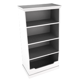 Ashton white storage bookcase