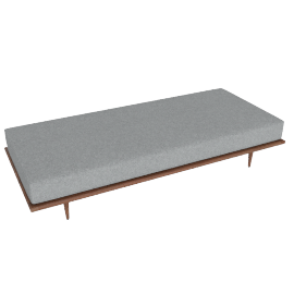 Nelson Daybed, Noble Fabric:Walnut.Heathered Grey
