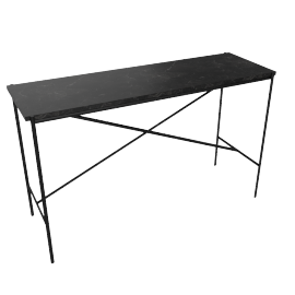 Outline Console Table, Black Base Nero Marquina Top