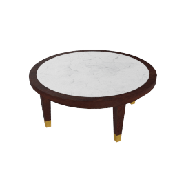 Polemos Coffee Table - White/Dark Brown