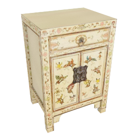 Chinese Collection Shari Painted Cabinet, Cream