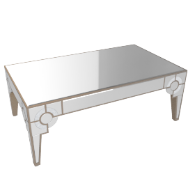 Mystique Coffee Table -Silver/Gold