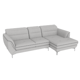 Galium Corner Sofa Right, Light Grey