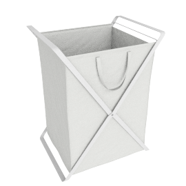 Large Tower Laundry Hamper, White