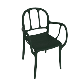 Mila Chair, Dark Green