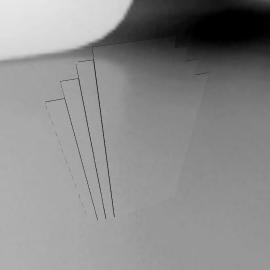 Deco Overmantel Mirror, H107 x W86cm