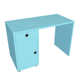 Box Desk, Blue