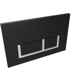 Black Square Flush Plate