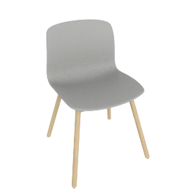 About A Chair 12 Side Chair, Grey / Oak