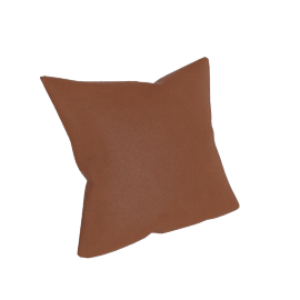 Como Throw Pillow in Leather, Canyon
