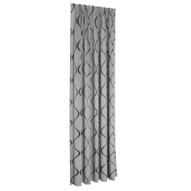 Dextra Blackout 2-piece Curtain Set - 138x300 cms, Grey