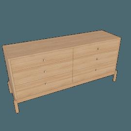 Brassline Dresser - Wide, Oak