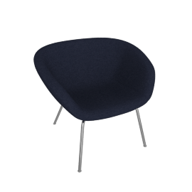 Pot Lounge Chair, Blue