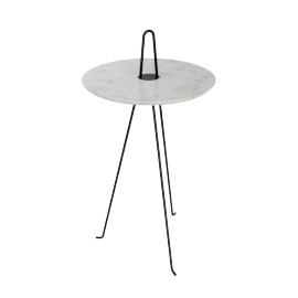 Tipi High Table, Carrara