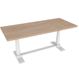 Pinner Rectangular Dining Table, Flint White