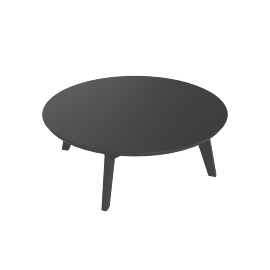 Satellite Round Cocktail Table, Slate