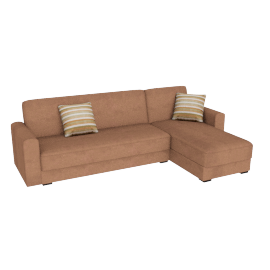 Blake Corner Sofa Bed Brown