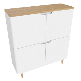 Mira 4-door Cupboard, White