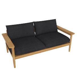 Terassi Two-Seater Sofa, Char