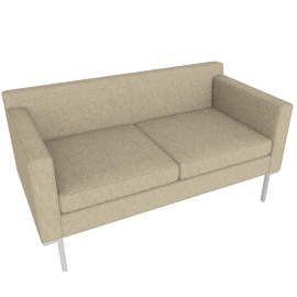 Theatre Two Seater, Lama Tweed, Oatmeal