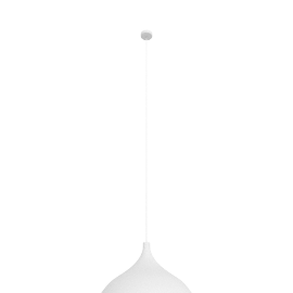 Swell Wide LED Pendant, White / Brass