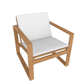 Block Island Lounge Chair, With White