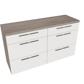 Dublin dresser, HG White/ Grey Oak