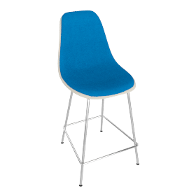 Eames Upholstered Molded Fiberglass Counter Stool