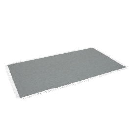 Chilewich Market Fringe Small Floor Mat, Quartz