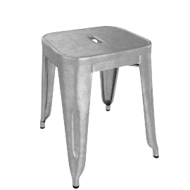 Marais Stool 18 in. - Gunmetal.Grey