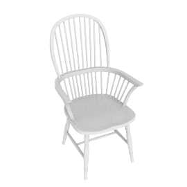 Marple Carver Dining Chair, Cream