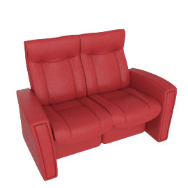 Gemini Reclining Small Sofa, Cranberry
