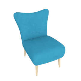 Finch Arte Chair, Turquoise Blue
