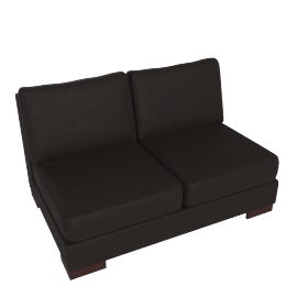 Signature 2 Seater Armless, Chocolate