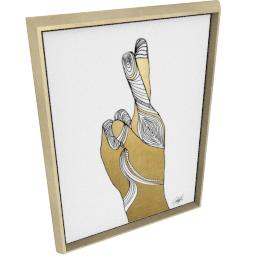 Sign Language X by KelliEllis - 24''x32'', Gold
