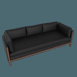 Emmy Sofa, Kalahari Leather- black