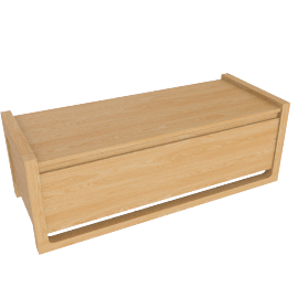 Matera Storage Small Bench, Oak
