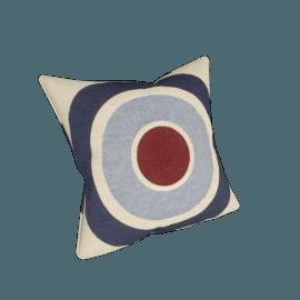 Target Cushion, Blue