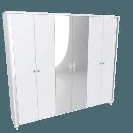 Celestia 6-Door Wardrobe