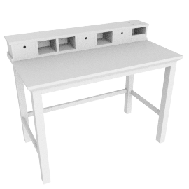 Hickory Desk, White