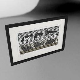 Adelene Fletcher - Oyster Catchers Framed Print, 52 x 79cm
